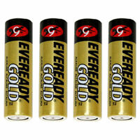 EVEREADY GOLD A91BP 4 ALKALINE BATTERY 1.5 V AA ZINC MANGANESE DIOXIDE