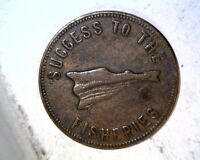 1860 PRINCE EDWARD ISLAND CANADA TOKEN SPEED THE PLOW SUCCESS TO THE FISHERIES