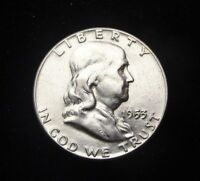 1953 FRANKLIN 90 SILVER HALF DOLLAR HIGH GRADE