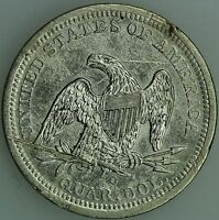 1843 O SEATED QUARTER AU DETAILS 25C US COIN LOT 1659