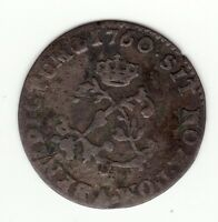 FRENCH COLONIAL 1760/59 A BILLON SOUS MARQUES VLACK 44D R7