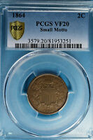 1864 SMALL MOTTO TWO CENT PCGS VF20-  LOOKING EXAMPLE
