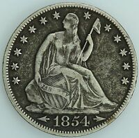 1854 O SEATED HALF DOLLAR XF DETAILS 50C US COIN LOT 2041