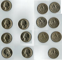 VINTAGE WASHINGTON QUARTERS SET OF 7 1965 2 1967 2 1970  2 1970 1