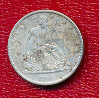1841 O SEATED LIBERTY SILVER HALF DOLLAR NICE CIRCULATED COIN