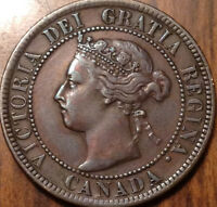 1897 CANADA LARGE 1 CENT COIN PENNY IN GOOD CONDITION