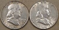 FRANKLIN HALVES 1949 AU AND 1953 XF