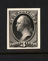 SCOTT US  158TC4A 3C BLACK WASHINGTON ATLANTA TRIAL COLOR PLATE PROOF/CARD, VF