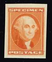USA STAMP  SPECIMEN STAMP,  WASHINGTON ORANGE MNH/OG