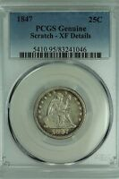 1847 SEATED QUARTER PCGS XF DETAILS 25C US COIN LOT 3454