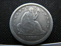 1838 SEATED LIBERTY QUARTER