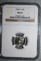 1983 P MS 66 ROOSEVELT DIMES NGC 247