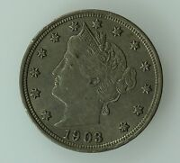 1903 LIBERTY HEAD NICKEL AU 5C US COIN LOT 264
