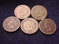 1859 INDIAN HEAD CENT SET COLLECTION OF 5 1859 INDIAN CENTS   905