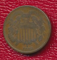 1868 TWO CENT PIECE  COPPER TYPE COIN SHIPS FREE