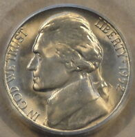 1952 S JEFFERSON NICKEL PCGS MS65 WELL ABOVE AVERAGE STEPS