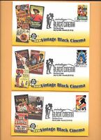 US 2008 FDC FIRST DAY COVERS 4336-4340 VINTAGE BLACK CINEMA SET OF 5 FLEETWOOD