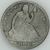 1853 O SEATED HALF DOLLAR FINE DETAILS 50C US COIN LOT 4102