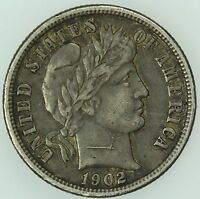 1902 O BARBER DIME AU DETAILS 10C US COIN LOT 4702