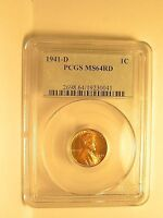 1941 D LINCOLN CENT PCGS MS64RD OGH