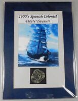 1600'S  SPANISH COLONIAL PIRATE TREASURE   COPPER COB WITH A COUNTERSTAMP