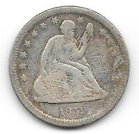 1859 O LIBERTY SEATED QUARTER    KEY DATE ONLY 260,000 MINTED