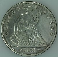 1873 SEATED HALF DOLLAR XF DETAILS 50C US COIN LOT 3214
