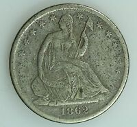 1862 S SEATED HALF DOLLAR XF DETAILS 50C US COIN LOT 1975