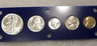 1941 PROOF SET WITH NICE CONTRAST WALKING LIBERTY HALF & MERCURY DIME  COMPLETE