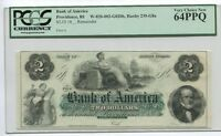 BANK OF AMERICA $2 NOTE PROVIDENCE RI PCGS 64PPQ CHOICE NEW HAXBY235 G8A 1