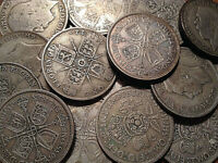1920 TO 1946 UK GREAT BRITAIN .500 SILVER FLORIN BUY 1 OR MORE ITS FREE S/H