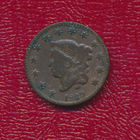 1829 CORONET HEAD LARGE CENT STRONG CLEAR STARS