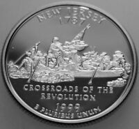 1999 S STATE QUARTER SILVER PROOF NEW JERSEY NJ