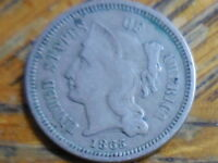 1865 THREE CENT NICKEL SELLER'S  395