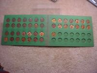 1949 TO 1967 LINCOLN CENT 43 COIN SET INCLUDES MANY BU COINS & FOLDER  1