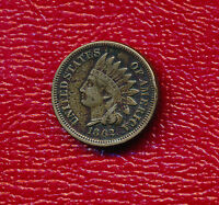1862 INDIAN HEAD CENT A   CIRCULATED SMALL CENT SHIPS FREE