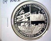 1968 END OF WORLD WAR I STERLING SILVER PROOF MEDAL NCS .925 FINE  1 OZ ASW