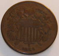 1864-P TWO CENT PIECE [SN02]