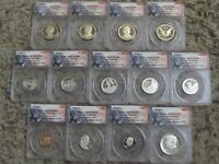 2016-S 13-COIN PROOF SET ANACS PR70DCAM FIRST STRIKE  035 OF 199
