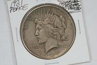 1921 P PEACE SILVER DOLLAR AU AMAZING ORIGINAL TONING
