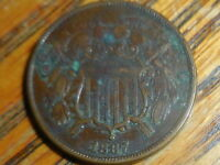 1867 SHIELD TWO CENT COIN SELLER'S NOTE  252