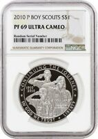 2010 P $1 BOY SCOUTS OF AMERICA COMMEMORATIVE SILVER DOLLAR NGC PF69 UC