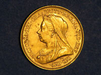 GREAT BRITAIN 1893 1/2 SOVEREIGN GOLD UNC