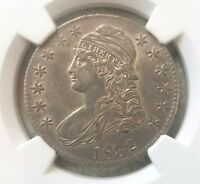 1832 CAPPED BUST HALF DOLLAR NGC AU 58 O 118. GREAT COLOR AND TONING