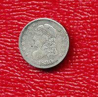 1830 CAPPED BUST SILVER HALF DIME VERY LIGHT CIRCULATION