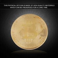GOLD PLATED BITCOIN COIN COLLECTIBLE PHYSICAL BTC COIN ART COLLECTION FOR GIFT