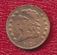 1826 CLASSIC HEAD CAPPED BUST HALF CENT BEAUTIFUL & LUSTROUS SHIPS FREE