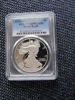 2012-W  $1 SILVER EAGLE COIN PROOF   GRADED BY PCGS PR 69 DCAM