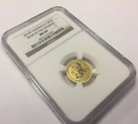 2016-P AUSTRALIA 1/10 OZ GOLD YEAR OF THE MONKEY COIN NGC MINT STATE 69 .999 S2 LUNAR $15