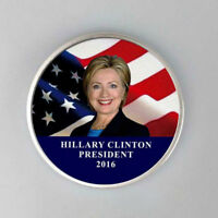 FOR HILLARY CLINTON COLORED COMMEMORATIVE SILVER COINS UNCIRCULATED COLLECTION